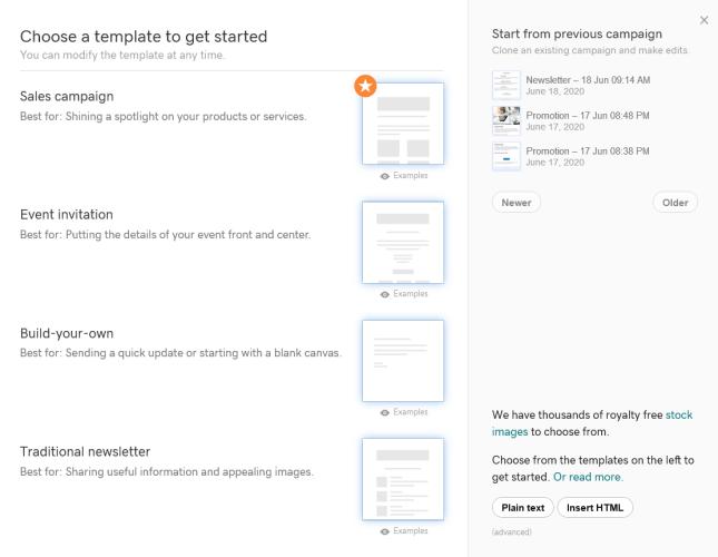 GoDaddy Email templates