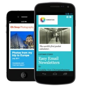 MailChimp for iPhone and Android
