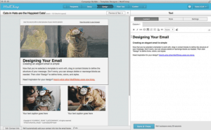 Screenshot of MailChimp