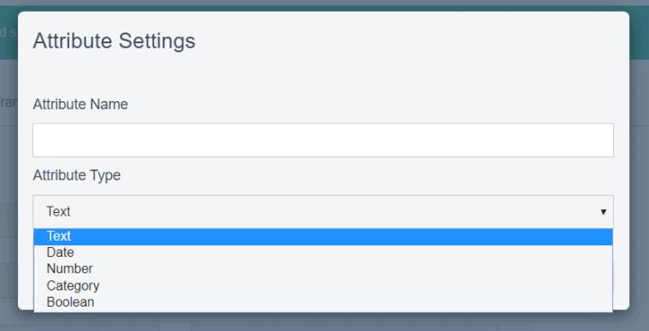 Sendinblue list custom fields