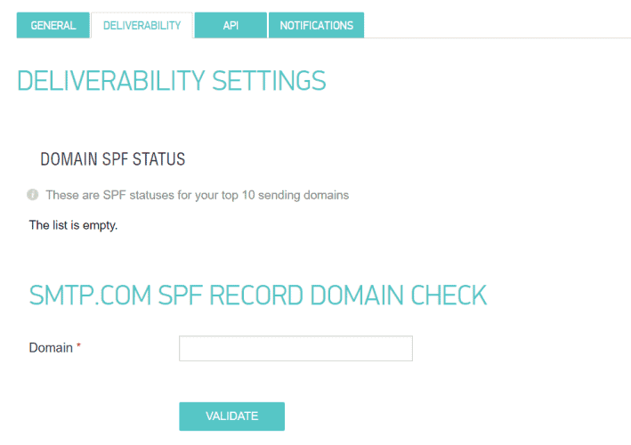 SMTP.com Domain Verification